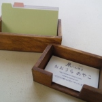 木製カードホルダーをオーダーメイドしてみました