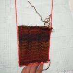 出直しアフガン編みジャケット、袖、その後・・・