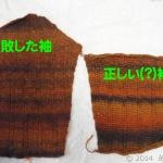 アフガン編みジャケット、袖、もう少し・・