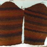 アフガン編みジャケット、袖が完成しました♪