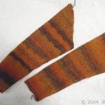 アフガン編みジャケット:袖と後ろ身頃のとじが完成しました!
