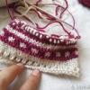 ニットマルシェの星柄のくつ下、編みはじめました