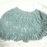 パイナップルレースのプルオーバー、本体が編み上がりました!