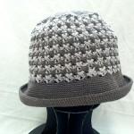 [完成] クロス模様の帽子が、完成しました~