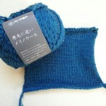 ダルマ手編糸『原毛に近いメリノウール』のメリヤスゲージを取りました