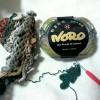 野呂メロディーで編む、ブレードつなぎのストールを編みはじめましたよ
