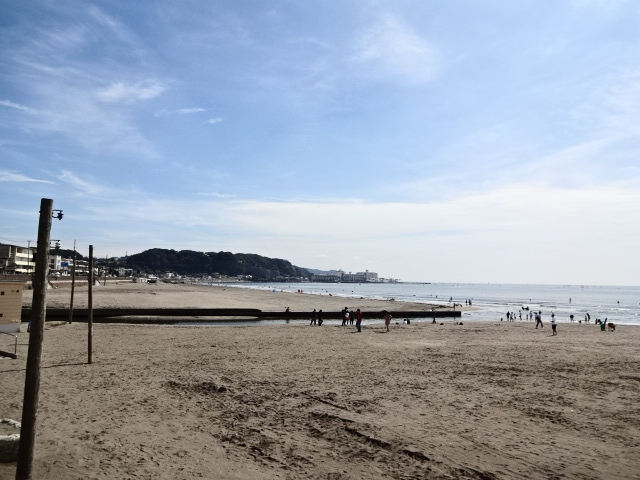 9月の由比ガ浜