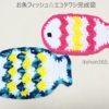 【ホントに今度こそ完成版】お魚フィッシュ☆エコタワシ 発表です!