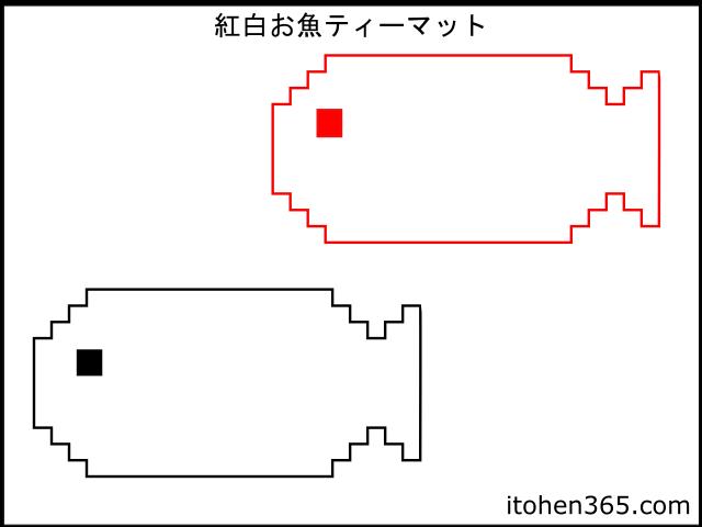 お魚ティーマットデザイン画