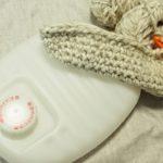 手編みの湯たんぽカバーを制作しています