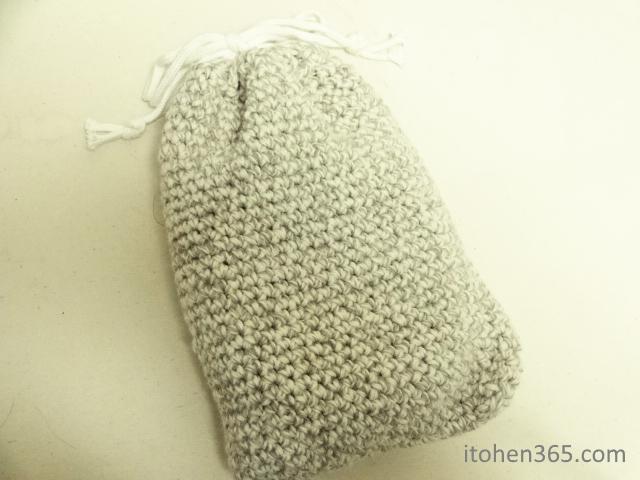 手編み湯たんぽカバー