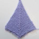 ドミノ編みプロジェクト(3):ガーター編み&3段間を空けた減らし目バージョン