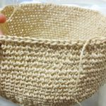 SASAWASHIで作るリボンキャノチェ(3):ブリムに入りました!細編みをちゃんとキレイに編むって実は地味に大変だったりするのよ