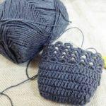 ちょっと春夏用のかぎ針編み靴下を制作しておりますよ
