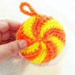 無料編み図でアクリルタワシを試作してみたー