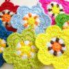 たくさん編んだお花のエコタワシも、残り2つになりました!