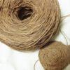柿渋染めの糸でがまぐち制作開始!なかなか渋~~~い♪