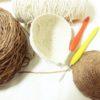 本日の編み物:サイズ調整って地味に大変!編んではほどきの、がまぐち財布です(^^;