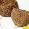 本日の編み物:柿渋染めのガマグチ本体編み上がり!&『ケストラーさんのミトン』着手しました!