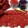 リングマフラー(8):方眼編みパート(その1)完了、ドキドキの模様編みに入っています