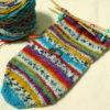 ちょっと思い立って『つま先から編む靴下』を習ってみる、など。