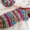 『つま先から編む靴下』その2:カカトが出来ました!