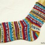 『つま先から編む靴下』その3:片っ方完成しました!