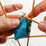 『つま先から編む靴下』その5:引き上げ増し目の編み方