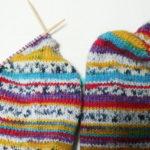 『つま先から編む靴下』その7:あれれー?なんか柄が違うよ??