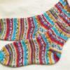 【完成】つま先から編む靴下:やっとこさアイロンかけました!