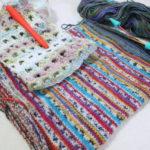 今日の編み物:ブローチとストールの続き
