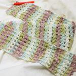 母の日用♪ホビーラホビーレさん編み図のストール、110cm突破!