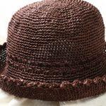 【完成】ダルマ・クラフトクラブで編む夏用帽子