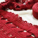 クロッシェレース・リング編みショール、ようやく目数が合いました・・・!