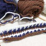 シングルフック・アフガンで作る帽子。