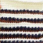 アフガン編みの帽子(2)ゲージ完成 やはりゲージ大事、超大事