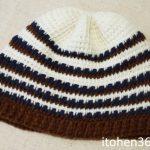 【完成】アフガン編みの帽子:どうにか完成~