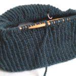 ブリティッシュエロイカ・リブ編み帽子(3):はて、模様編みを混ぜ混むかどうか、思案中