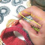 ソックワンダーの編みやすい「持ち方」を発見したー