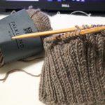 ダルマ手編み糸「フォークランドウール」で編むニット帽(1)