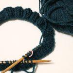ブリティッシュエロイカ・リブ編み帽子(1):作り目完了しましたー