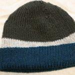 [完成]ブリティッシュエロイカ・リブ編み帽子