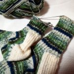 靴下編み・トゥアップくつ下(7):もう片っ方あと30段で完成
