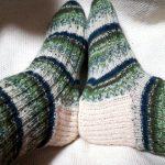 [完成]靴下編み・トゥアップくつ下