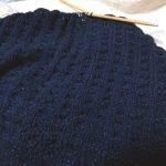 ピマデニムのベスト(6):そういえば編みかけでした!