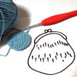 新作がま口を編みはじめましたー