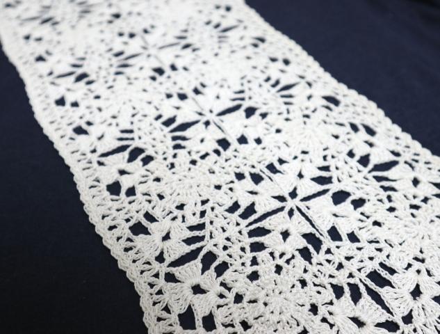 レース糸でモチーフ編み