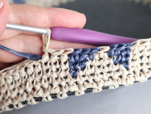 メリヤスこま編み